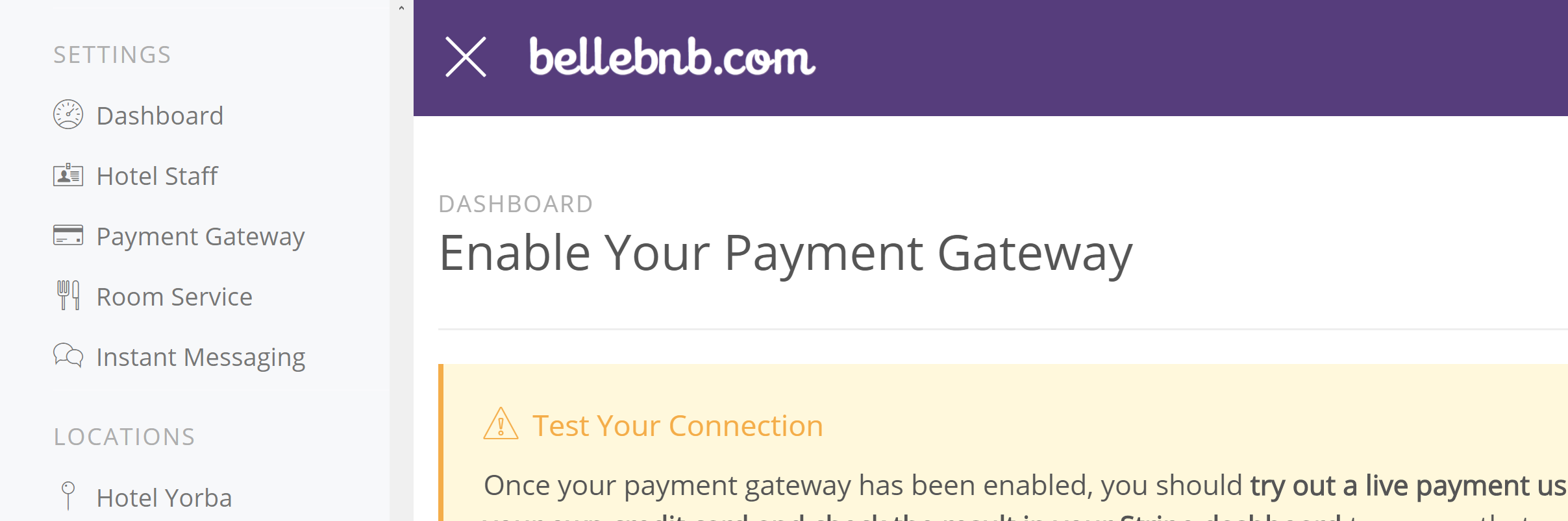 Payment Gateways Part I: Bellebnb Concepts You can connect your Payment Gateway to process live credit card payments directly from your Front Desk manager. Before you do this, you should be familiar with a few definitions and concepts found in this blog post. Hotel Management Software in the Cloud