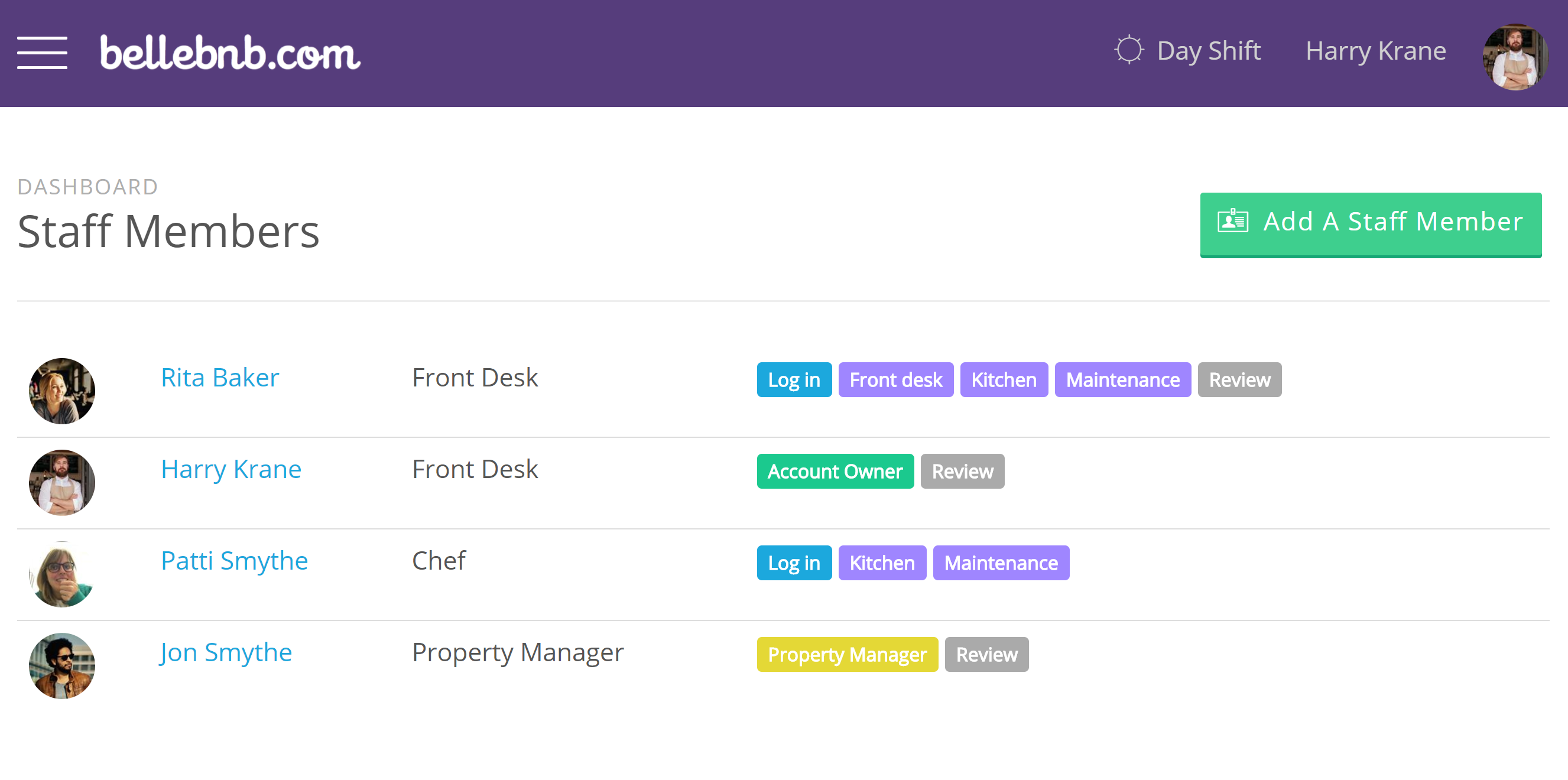 Front Desk manager, we have added a new user type: Property Manager. Property Managers have the same access level as the Account Owner, but they are limited to the properties assigned to them.