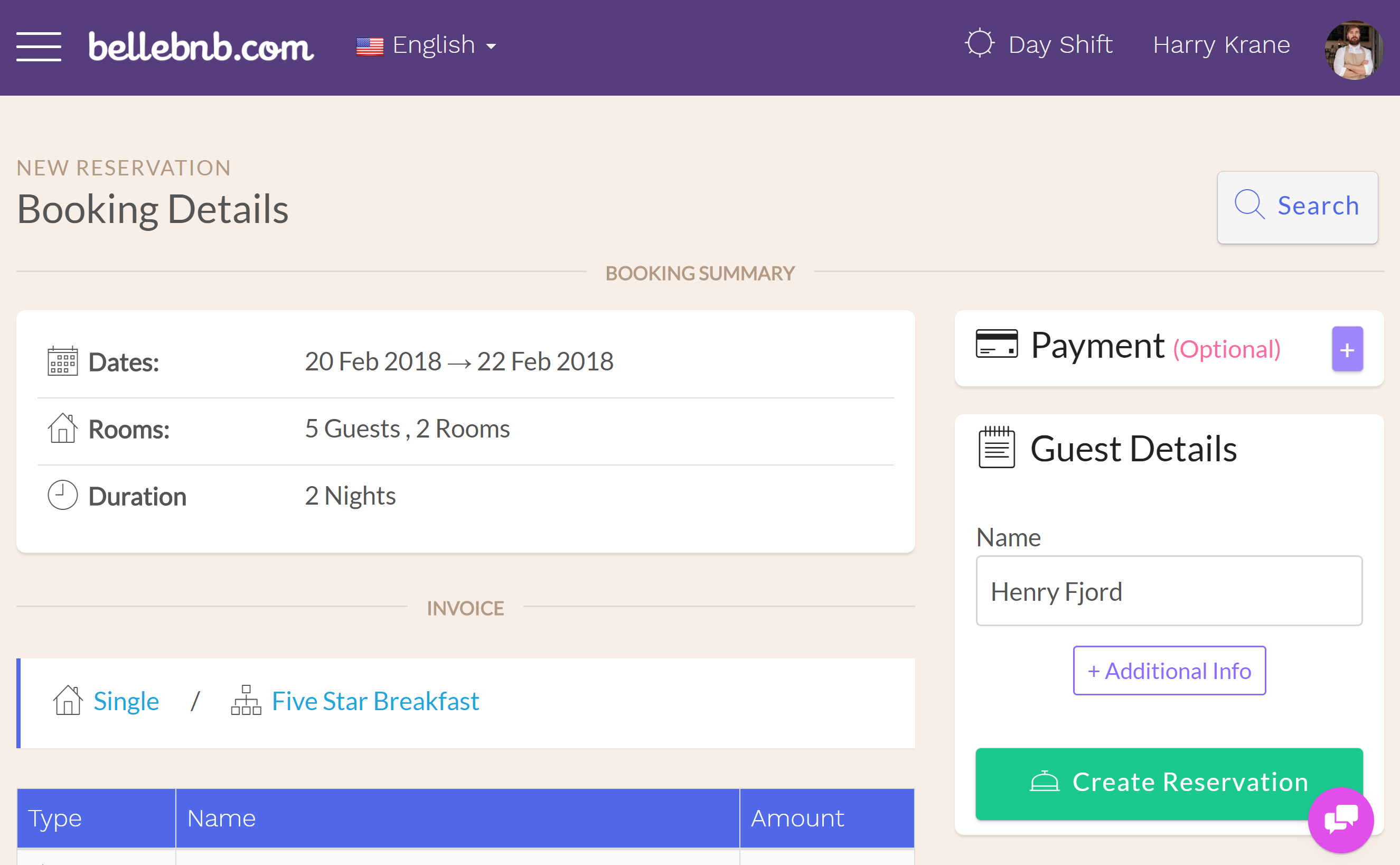 You can see the additional rooms for the reservation in the 'Booking Summary' section of the reservation details for the main room. The additional rooms will link back to the main room for the group.